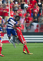 24 July 2010: FC Dallas defender Ugo Ihemelu #3 and Toronto FC forward Maicom Santos #29 in action during a game between FC Dallas and Toronto FC at BMO Field in Toronto..The final score was a 1-1 draw...