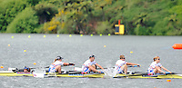 Hamilton, NEW ZEALAND. GBR LTAMix4+, winning their heat at the  2010 World Rowing Championship on Lake Karapiro Monday  01/11/2010. [Mandatory Credit Peter Spurrier:Intersport Images].