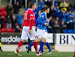 St Johnstone v Brechin...07.01.12  Scottish Cup Round 4.Murray Davidson celebrates his goal with Jody Morris.Picture by Graeme Hart..Copyright Perthshire Picture Agency.Tel: 01738 623350  Mobile: 07990 594431