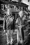 American Gothic Farm Couple at Clove Brook Farm in New York State