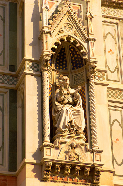 The Dome Catheral -Statue of Saint - Florence Italy
