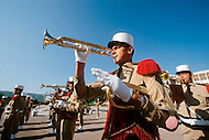 July, 1980, Aubagne, France. Headquarters of the 1st Regiment of the French Foreign Legion. The orchestra practising.