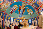 St. Sava frescos by Miloje Milinkovic..behind the altar