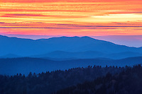 A classic sunset scene shot from Clingman's Dome in the Smoky Mountains.