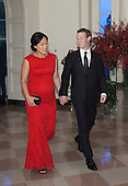 Mark Zuckerberg, Chairman and CEO, Facebook and Dr. Priscilla Chan arrive at the State Dinner for China's President President Xi and Madame Peng Liyuan at the White House in Washington, DC for an official State Visit Friday, September 25, 2015. Credit: Chris Kleponis / CNP