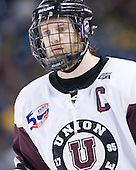 Brock Matheson (Union - 6) - The University of Minnesota-Duluth Bulldogs defeated the Union College Dutchmen 2-0 in their NCAA East Regional Semi-Final on Friday, March 25, 2011, at Webster Bank Arena at Harbor Yard in Bridgeport, Connecticut.