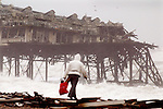 JAMES BOARDMAN / boardmanpix.co.uk.Brighton's historic West Pier takes another battering after force 8 gale on the South coast.