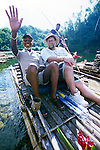 Peter Greenberg and Jamaican Prime Minister ride on the Rio Grande