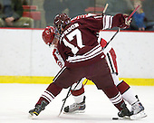 David Valek (Harvard - 22), Robbie Bourdon (Colgate - 17) - The Harvard University Crimson defeated the visiting Colgate University Raiders 6-2 (2 EN) on Friday, January 28, 2011, at Bright Hockey Center in Cambridge, Massachusetts.