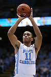 06 November 2015: North Carolina's Brice Johnson. The University of North Carolina Tar Heels hosted the Guilford College Quakers at the Dean E. Smith Center in Chapel Hill, North Carolina in a 2015-16 NCAA Men's Basketball Exhibition game. UNC won the game 99-49.