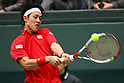 Kei Nishikori (JPN), .February 12, 2012 - Tennis : .Davis Cup 2012, World Group 1st Round.match between Kei Nishikori 3-0 Ivan Dodig (CRO) .at Bourbon Beans Dome, Hyogo, Japan. .(Photo by Daiju Kitamura/AFLO SPORT) [1045]