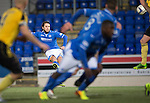 St Johnstone v Livingston.....30.11.13     Scottish Cup 4th Round<br /> Stevie May puts his free kick just over the bar<br /> Picture by Graeme Hart.<br /> Copyright Perthshire Picture Agency<br /> Tel: 01738 623350  Mobile: 07990 594431