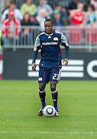 22 May 2010: New England Revolution midfielder Joseph Niouky #23 in action during a game between the New England Revolution and Toronto FC at BMO Field in Toronto..Toronto FC won 1-0.....