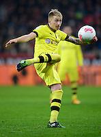 FUSSBALL   1. BUNDESLIGA   SAISON 2012/2013    20. SPIELTAG Bayer 04 Leverkusen - Borussia Dortmund                  03.02.2013 Mario Goetze (Borussia Dortmund) Einzelaktion am Ball