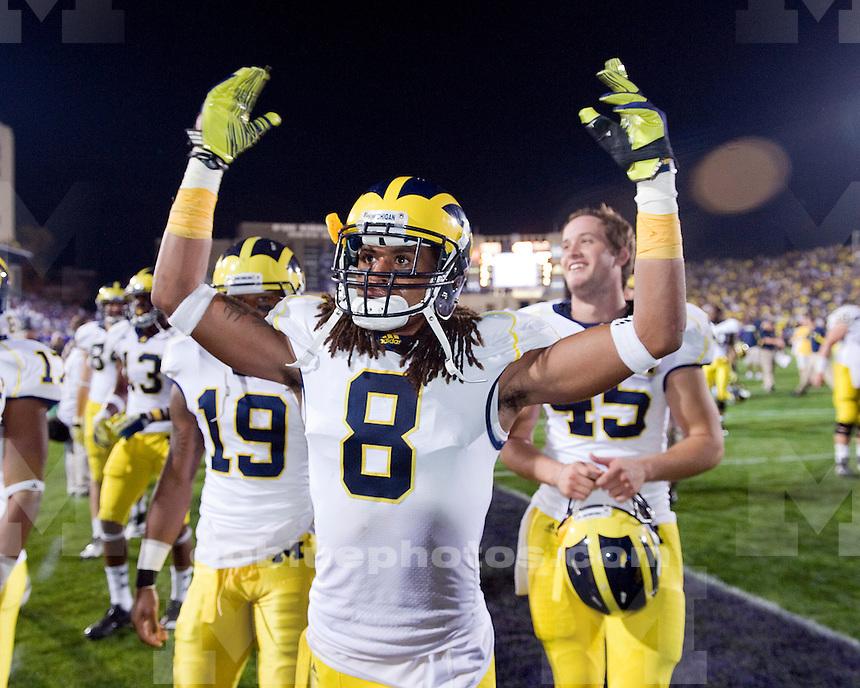 The University of Michigan football team beat  Northwestern University 42-24 at Ryan Field in Evanston, Ill., on October 8, 2011.