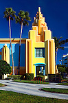 Art Deco architecture at Ron Jon's Surf Shop in Cocoa Beach, Florida.