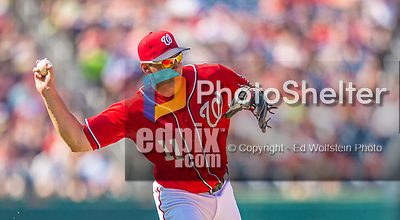 8 June 2013: Washington Nationals third baseman Ryan Zimmerman in action against the Minnesota Twins at Nationals Park in Washington, DC. The Twins edged out the Nationals 4-3 in 11 innings. Mandatory Credit: Ed Wolfstein Photo *** RAW (NEF) Image File Available ***