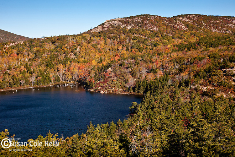 The Bowl, a glacial kettle pond in Acadia National Park, ME
