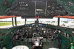 "A view of the instrument panel inside an ex-Israeli C-47 named ""Judy"", N150D. The aircraft originally spent time with the USAAF as AF 41-18401."
