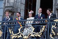 Kate, Duchess of Cambridge, Prince William, Prince Harry in Mons City Hall - Belgium