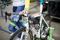 Simon Gerrans' (AUS/Orica-GreenEDGE) newest bike is ready to race<br /> <br /> Tour de France 2014