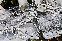 Another micro look at the dramatic designs created by Nature in ice. This image was taken along a frozen river in Montana.