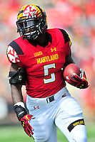 Terrapins' Wes Brown Maryland finds some running room. Maryland defeated Richmond 50-21 during home season opener at the Byrd Stadium in College Park, MD on Saturday, September 5, 2015.  Alan P. Santos/DC Sports Box