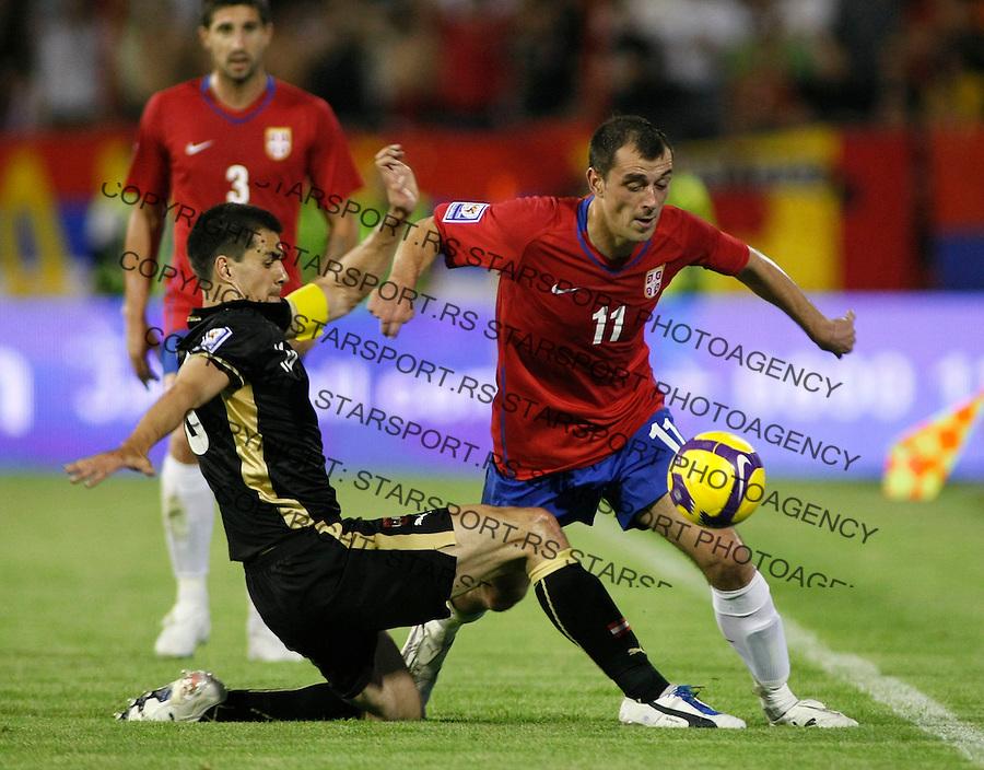Fudbal, Fifa world cup qualifications, South Africa 2010.Serbia Vs. Austria.Nenad Milijas, right.Beograd, 06.06.2009..Foto: Srdjan Stevanovic/starsportphoto.com ©