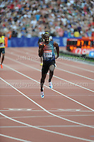 Usain Bolt of Jamaica is anchor man for his 4x100 Relay team at the Sainsbury Anniversary Games, Olympic Stadium, London England, Saturday 27th July 2013-Copyright owned by Jeff Thomas Photography-www.jaypics.photoshelter.com-07837 386244. No pictures must be copied or downloaded without the authorisation of the copyright owner.