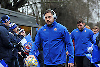 Horacio Agulla and the rest of the Bath Rugby team make their way to the changing rooms. Aviva Premiership match, between Bath Rugby and Wasps on February 20, 2016 at the Recreation Ground in Bath, England. Photo by: Patrick Khachfe / Onside Images