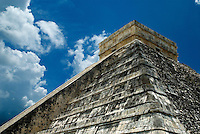 As you approach the Temple of Kukulkan, the step pyramid at the center of the vast architectural site often referred to as El Castillo, the enormous scale of the once great Mayan city is revealed.