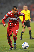 Julio Martinez...Kansas City Wizards played to a 2-2 tie with Chicago Fire at Community America Ballpark, Kansas City, Kansas.