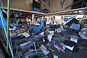 April 1st, 2011, Yamadamachi, Japan - The mess is what's been left in the fish market of Yamadamachi, Iwate Prefecture, on April 1, 2011, three weeks after this otherwise sleepy northeastern Japanese fishing vilalge was devastated by a magnitude 9.0 earthquake and ensuing tsunami. (Natsuki Sakai/AFLO) [3615] -mis-.