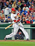 29 September 2010: Washington Nationals outfielder Michael Morse in action against the Philadelphia Phillies at Nationals Park in Washington, DC. The Phillies defeated the Nationals 7-1 to take the rubber game of their 3-game series. Mandatory Credit: Ed Wolfstein Photo