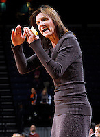 CHARLOTTESVILLE, VA- JANUARY 5: Head coach Joanne Boyle of the Virginia Cavaliers coaches her team during the game against the North Carolina Tar Heels on January 5, 2012 at the John Paul Jones arena in Charlottesville, Virginia. North Carolina defeated Virginia 78-73. (Photo by Andrew Shurtleff/Getty Images) *** Local Caption *** Joanne Boyle