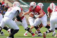 Stanford, CA - April 15, 2017:  Cardinal and White Spring Game at Cagan Stadium.  Offense won over Defense 37-30.