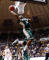 WEST LAFAYETTE, IN - DECEMBER 29: Marcus Thornton #3 of the William &amp; Mary Tribe shoots the ball under the basket against the Purdue Boilermakers at Mackey Arena on December 29, 2012 in West Lafayette, Indiana. Purdue defeated William &amp; Mary 73-66. (Photo by Michael Hickey/Getty Images) *** Local Caption *** Marcus Thornton