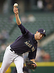 Seattle Mariners'  starter Doug Fister pitches against the Baltimore Orioles  at SAFECO Field in Seattle April 19, 2010. The  Mariners beat the Orioles 8-2. Jim Bryant Photo. ©2010. ALL RIGHTS RESERVED.