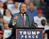 SUNRISE, FL - AUGUST 10: Arkansas Gov. Mike Huckabee speaks during Republican Presidential Candidate Donald Trump rally at The BB&T Center on August 10, 2016 in Sunrise Florida. Credit MPI04 / MediaPunch