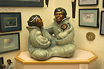 Alaska, Juneau: Shopping in Juneau.  Quality Alaska art at Cha for the Finest.  Circle of Life bronze sculpture by Jacques and Mary Regat. .Photo #: alaska10457 .Photo copyright Lee Foster, 510/549-2202, lee@fostertravel.com, www.fostertravel.com..
