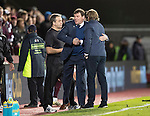 Hearts v St Johnstone&hellip;05.11.16  Tynecastle   SPFL<br />Tommy Wright and Robbie Neilson shake hands at full time<br />Picture by Graeme Hart.<br />Copyright Perthshire Picture Agency<br />Tel: 01738 623350  Mobile: 07990 594431