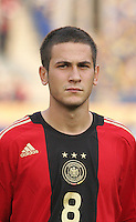 Germany's Mario Vrancic (8) stands on the field before the match against Brazil during the FIFA Under 20 World Cup Quarter-final match at the Cairo International Stadium in Cairo, Egypt, on October 10, 2009. Germany lost 2-1 in overtime play.