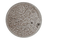 Old Sixpence Coin