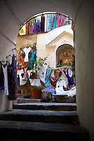 The fashion shops of Positano, Amalfi coast, Italy