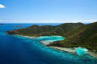 Aerial  view of Newfound Bay.St. John.U.S. Virgin Islands