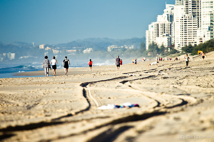 Early morning walkers - Gold Coast, Australia