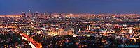 LA Night Skyline Colorful Sunset Panorama High dynamic range imaging (HDRI or HDR)