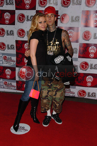 Shanna Moakler and Travis Barker<br />
