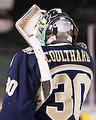 Ben Coulthard (Trinity - 30) has an Eminem album cover on the back of his mask. - The Williams College Ephs defeated the Trinity College Bantams 4-2 (EN) on Tuesday, January 7, 2014, at Fenway Park in Boston, Massachusetts.