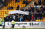 St Johnstone v Aberdeen...06.02.16   SPFL   McDiarmid Park, Perth<br /> Saints fans protest against facial recognition cameras<br /> Picture by Graeme Hart.<br /> Copyright Perthshire Picture Agency<br /> Tel: 01738 623350  Mobile: 07990 594431